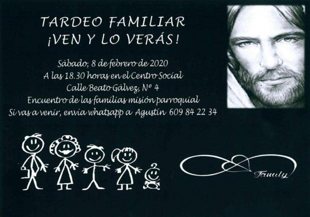 TARDEO FAMILIAR. MISION PARROQUIAL