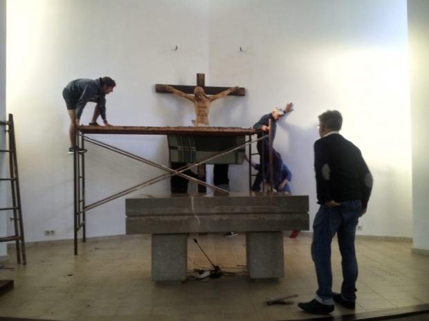 Restauración del Cristo de Magaluf
