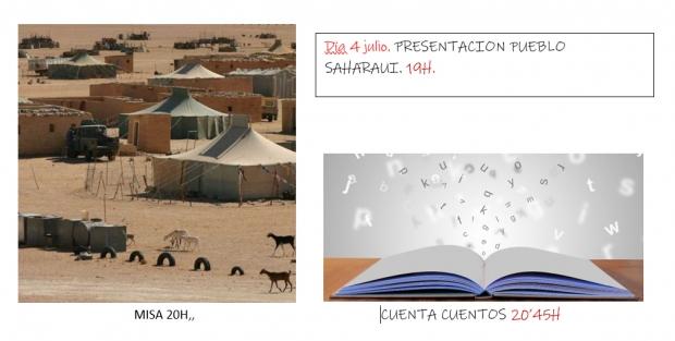 ENTRECULTURAS, Pueblo Saharaui,  4 JULIO A LAS 19H