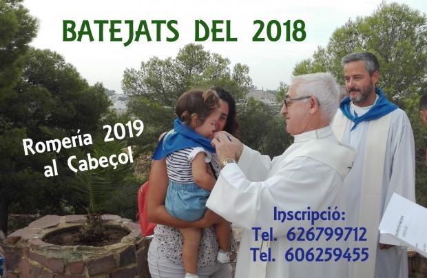 BAUTIZADOS EN EL 2018 - ROMERIA 2019 AL CABEÇOL