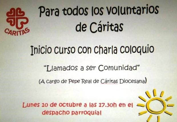 CHARLA COLOQUIO EN EL INICIO DE CURSO DE CARITAS PARROQUIAL