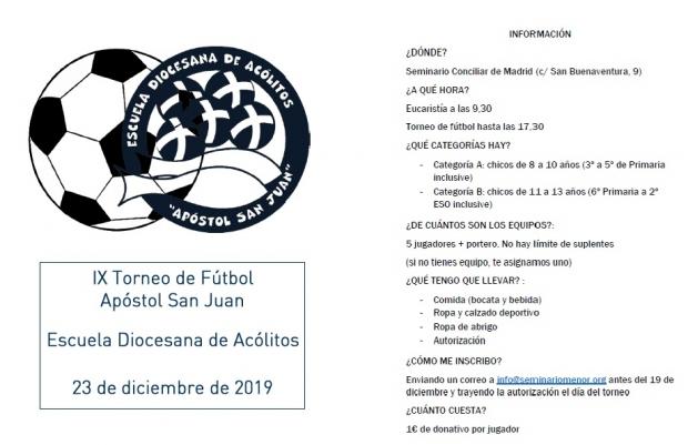 IX Torneo fútbol Monaguillos