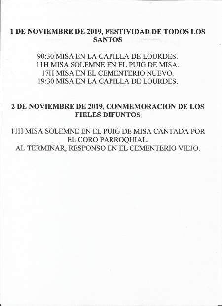 Todos los Santos - 2019