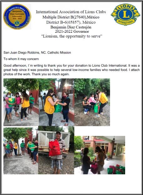 La Misión Católica San Juan Diego Ayuda en las inundaciones en México