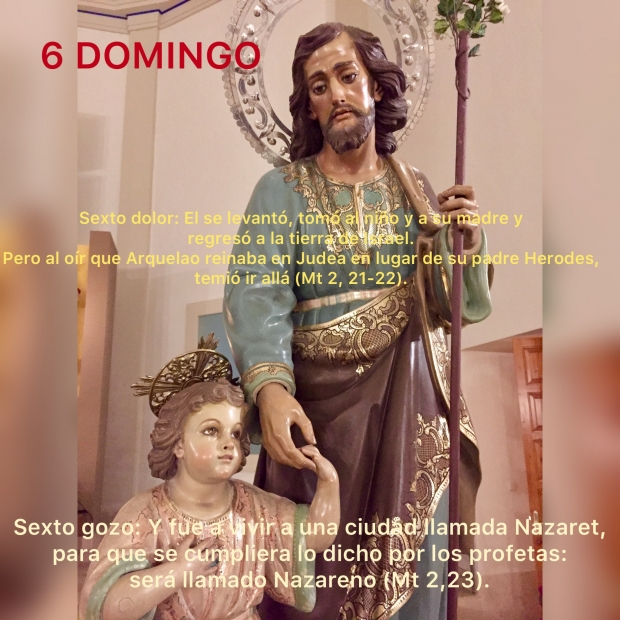 6 DOMINGO  DE SAN JOSÉ