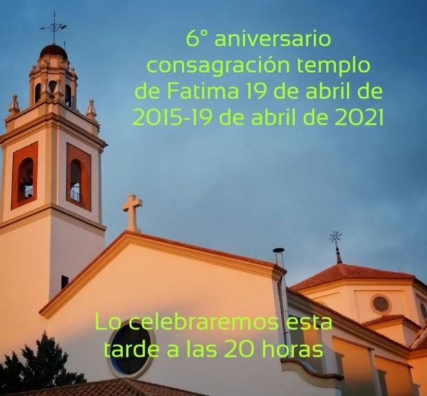 19 de abril: Aniversario de la Consagración del templo parroquial.