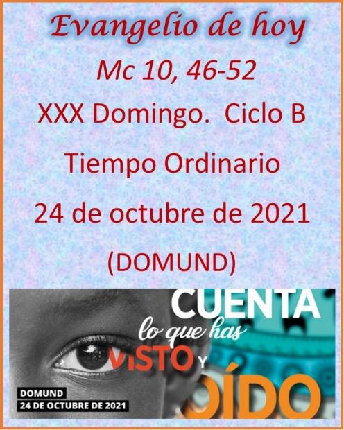 XXX Domingo.  Tiempo Ordinario. Ciclo B