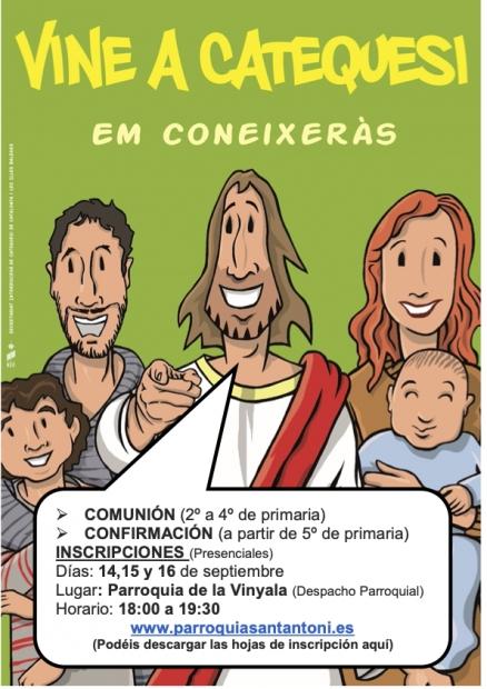 Inscripcions per a la Catequesi