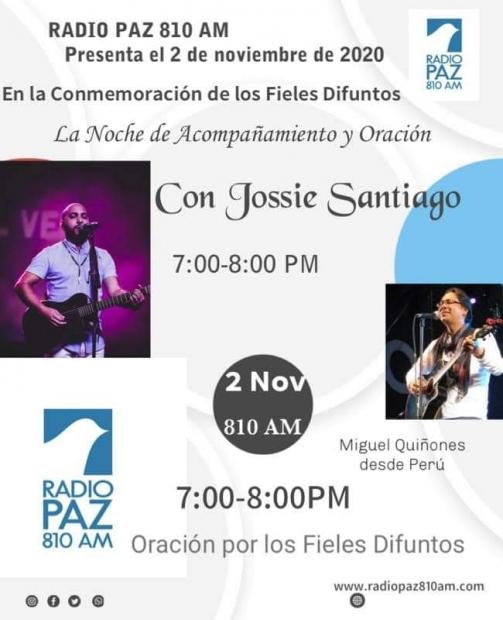 Noche de acompañamiento y oración con Jossie Santiago