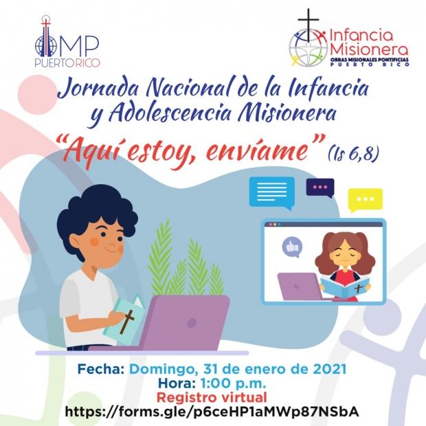 Jornada Nacional de la Infancia y Adolescencia Misionera 2021
