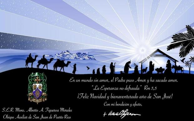 Felicitación de Navidad por S.E.R. Mons. Alberto A. Figueroa Morales