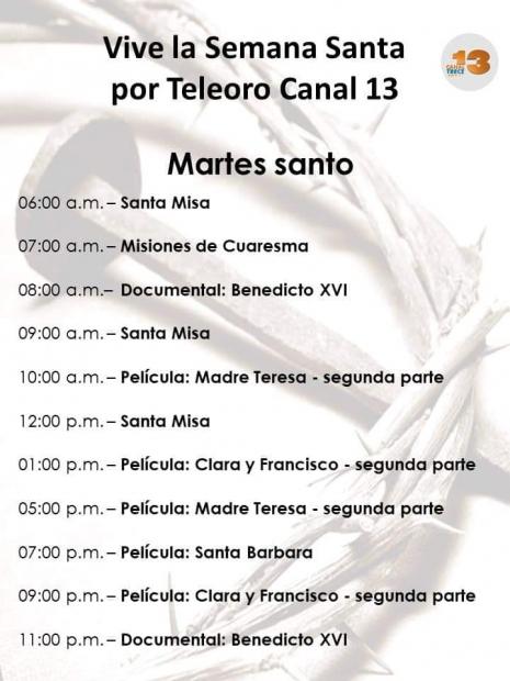 Programación de TeleOro TV Canal 13 (PR)