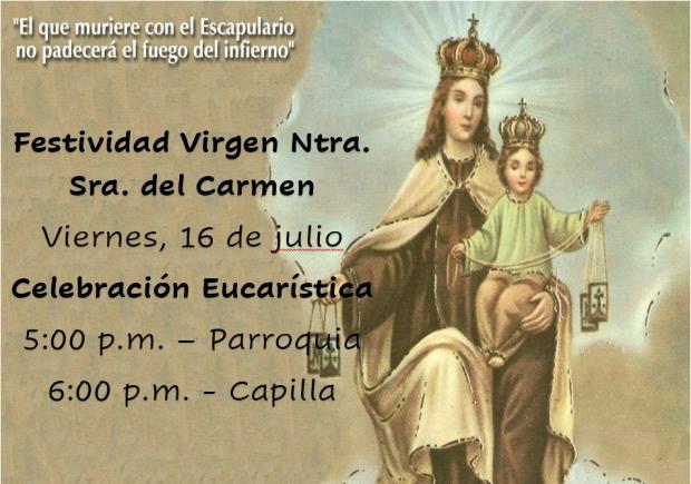 Festividad Virgen Ntra. Sra. del Carmen