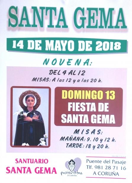 Santa Gema en Mayo