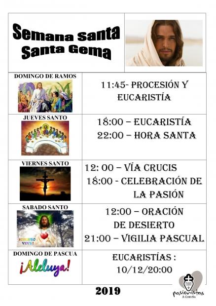 Horarios de Semana Santa
