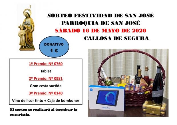 Agraciados Sorteo Parroquia San José