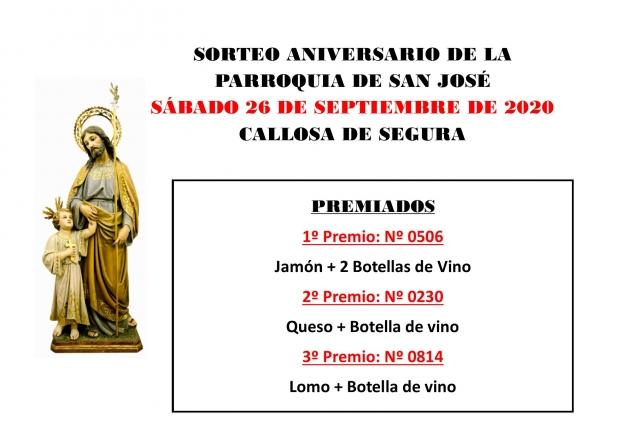 Sorteo Aniversario Parroquia de San José