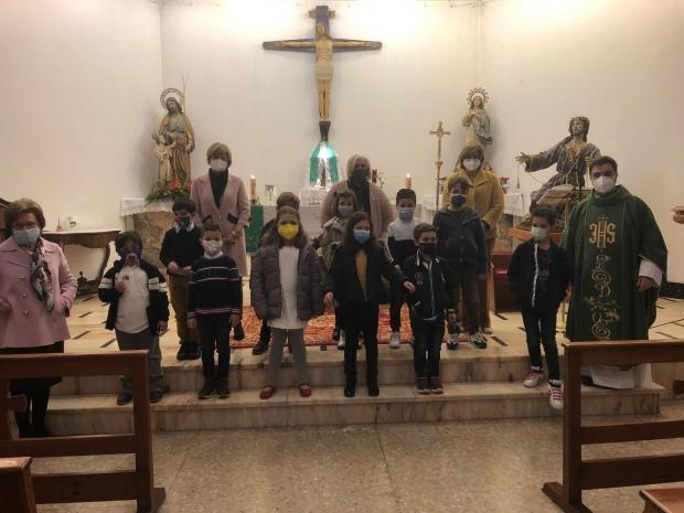 Misa en familia C.E.I.P.  San Roque y Rafael altamira