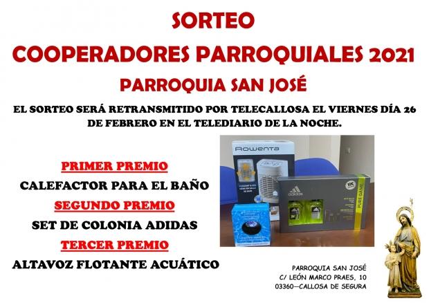 SORTEO COOPERADORES PARROQUIALES 2021