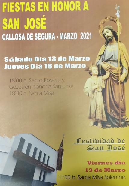 Actos para la Festividad de San José (Parroquia San José)