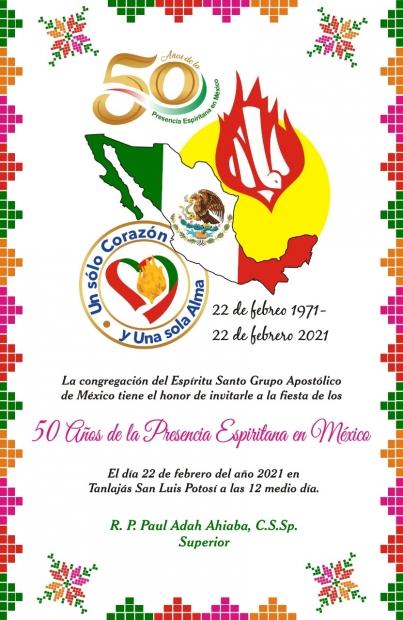 50º Aniversario de la Presencia de los Espiritanos en México - Felicidades!!!